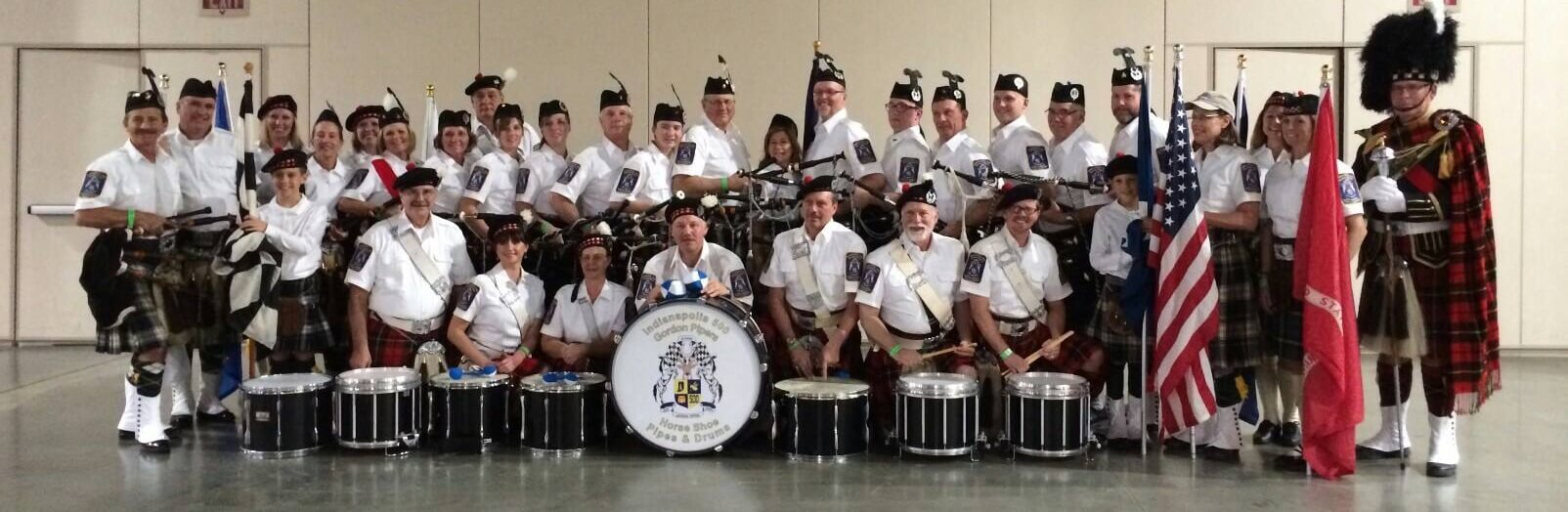Pipers at Colts game 2014